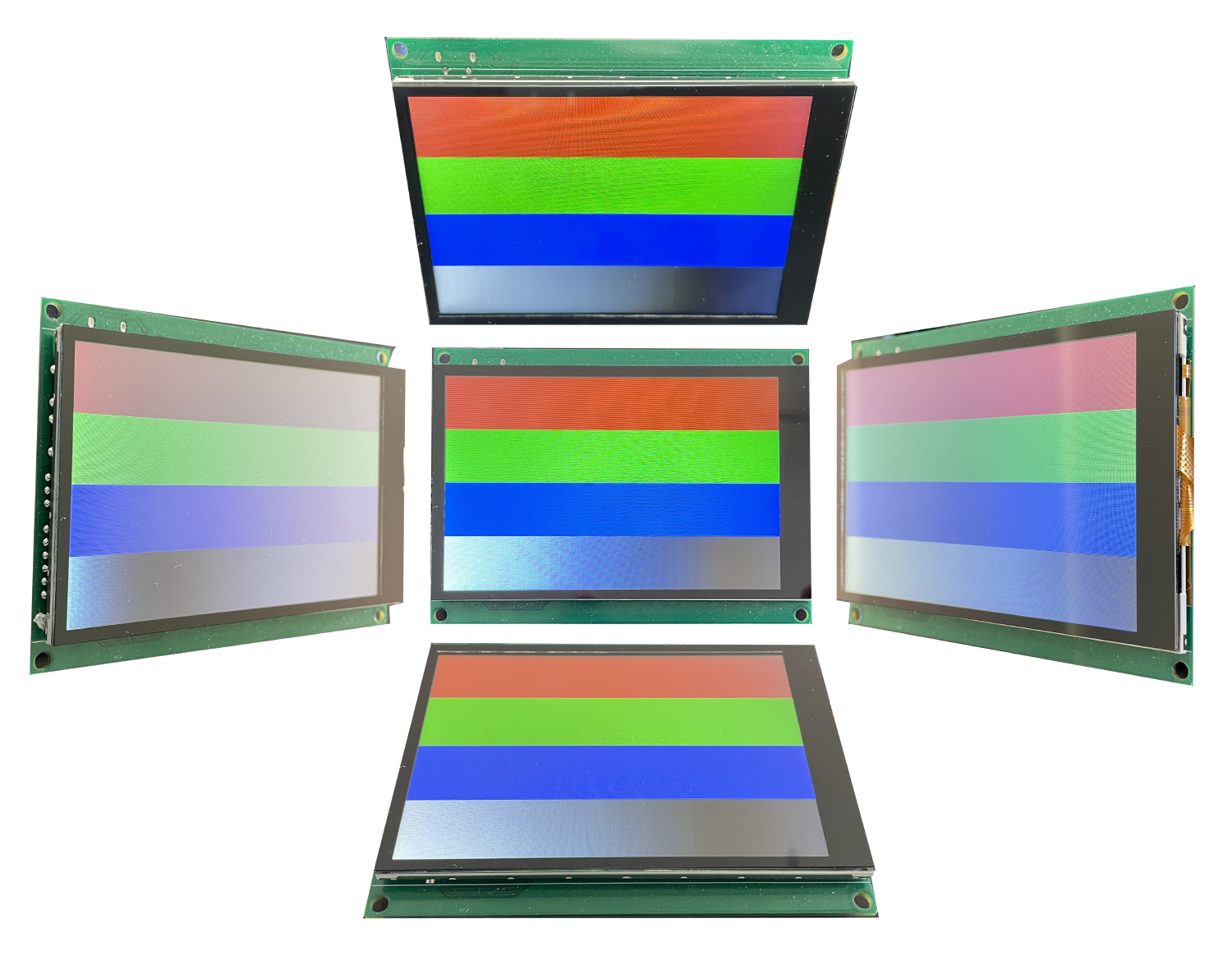 Viewing angles of the Nscreen32 board's display